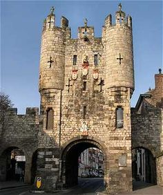 York, England. The old gatehouse is still standing. It's a little difficult to get modern traffic through it. But I love England's dysfunctions!