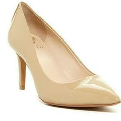 Vince Camuto Nude Beige Heels Pumps Size 4 Really elegant pumps from Vince Camuto, barely worn with 2 small scratches. The shoes are not too high and are easy to walk in from my experience (and I am very picky about heels). Staple piece. Vince Camuto Shoes Heels