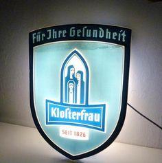 Klosterfrau Melissengeist Leuchtreklame original 50er - 60er  Jahre