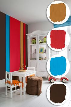Paint on a Colorful Accent Wall & 139 best Kids Rooms Paint Colors images on Pinterest in 2018 | Kid ...