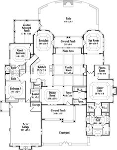 european style house plan 3 beds 35 baths 3799 sqft plan 478 3 floor plan main floor plan houseplanscom