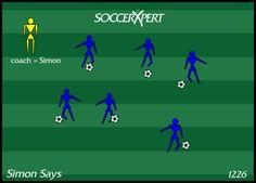 young soccer drill, U6 soccer drill, u8 soccer drill, dribbling