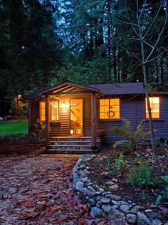 love this cabin we stayed in when we went to Big Sur - it's surrounded by redwoods and a creek runs in front of it