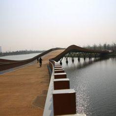 Nantong Eco-corridor – Phase 1 « Landezine International Landscape Award LILA Landscape Architecture, Landscape Design, Landscape Engineer, Green Corridor, Urban Road, Water Management, Pedestrian Bridge, Aquatic Plants, New Green