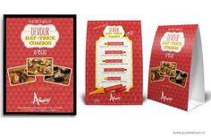 Poster & Tent Card Design for Food Festival @ Amazo Bistro by Purple Phase Communications. www.purplephase.in