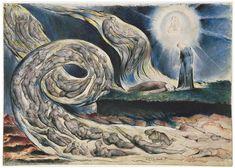 """William Blake, Illustrations to Dante's """"Divine Comedy"""", 1824-27, The Circle of the Lustful: Francesca Da Rimini"""