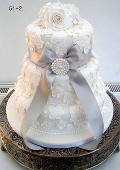 White Lace wedding cake  Cake by Nettie