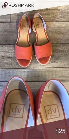 e49f6413d8f Adorable Peep Toe Flats Perfect-for-Spring peep toe coral flats!! DV