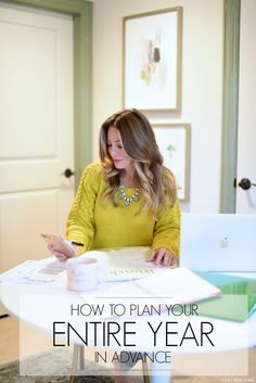How to Plan your Entire YEAR in advance with Free Printable