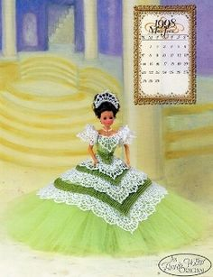 "The cover of the ""Miss June 1998"" crochet pattern by Annie Potter"