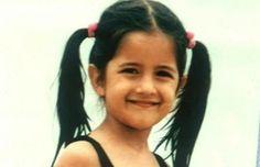 Hot Bollywood actress Katrina Kaif childhood images