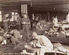 American doctors care for sick prisoners in the Dachau typhus ward