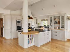 Interesting Open Plan Kitchen With Feature Island Ideas — Home Design Ideas Kitchen Storage Units, Kitchen Storage Solutions, Open Plan Kitchen, New Kitchen, Maple Kitchen, Kitchen Small, Kitchen Sink, Kitchen Interior, Kitchen Ideas