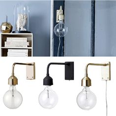 Bloomingville Less Vegglampe Metall Lamp Light, Light Up, Book Bar, Cool Lamps, Gull, Sconces, Wall Lights, Inspiration, Home Decor