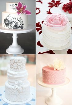 These wedding cakes are beautiful.