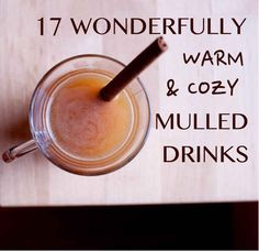 17 Wonderfully Warm And Cozy Mulled Drinks - including mulled white wine with pear, and mulled beer (weirdly). Cocktails, Non Alcoholic Drinks, Cocktail Drinks, Fun Drinks, Yummy Drinks, Beverages, Fall Recipes, Wine Recipes, Holiday Recipes