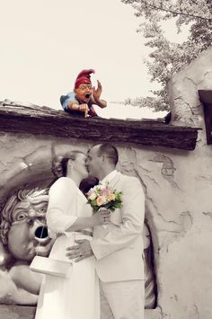 Deze trouwfoto werd in 2016 gemaakt in de Efteling