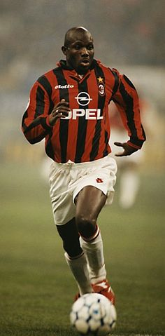 George Weah - Mighty Barrolle, Invincible Eleven, Africa Sports, Tonnerre Yaoundé, AS Monaco, Paris Saint-Germain, AC Milan, Chelsea, Manchester City, Marseille, Al-Jazira, Liberia.