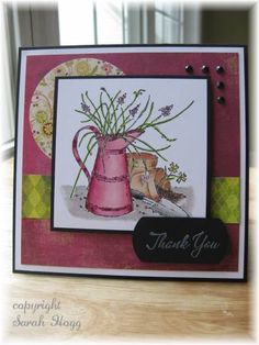 Floral Lemonade by sarahhogg - Cards and Paper Crafts at Splitcoaststampers Long Time Friends, Stamp Sets, Flower Cards, Homemade Cards, Lemonade, Holiday Cards, Bouquets, Mason Jars, Favorite Things