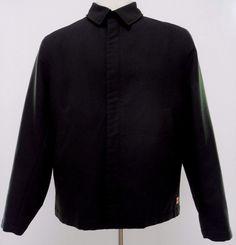 Hugo Boss Black Jacket Men Osira Model Full Zip Sz 42R Size Polyester Nylon Mens #HUGOBOSS #BasicJacket