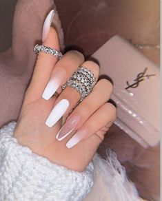 In search for some nail designs and ideas for your nails? Listed here is our list of must-try coffin acrylic nails for fashionable women. Bling Acrylic Nails, Acrylic Nails Coffin Short, Simple Acrylic Nails, Summer Acrylic Nails, Best Acrylic Nails, Acrylic Nail Designs, Summer Nails, Simple Nails, Glitter Nails