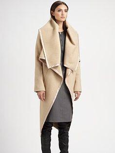 Maison Martin Margiela - Beige Front Ruffle Coat  #minimalist #fashion