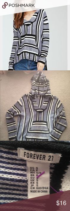 Baja hoodie Soft & warm Baja Mexican blanket hoodie. Size small but can fit up to medium. Forever 21 Sweaters