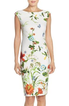 Gabby Skye Floral Scuba Sheath Dress available at Day Dresses, Casual Dresses, Dresses For Work, Shift Dresses, Classy Outfits, Casual Outfits, Flower Skirt, Casual Hairstyles, Nordstrom Dresses