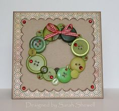 Button Wreath Card