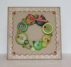 Button Wreath Card