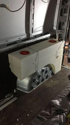 Frischwassertank Frischwassertank - Create Your Own Van Truck Camper, Mini Camper, Camper Life, Van Conversion Interior, Camper Van Conversion Diy, Van Interior, Kangoo Camper, Sprinter Camper, Van Life