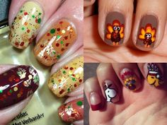 Gobble, Gobble! 16 Festive D.I.Y. Thanksgiving Day Nails (From Snoopy To Sweet Potato Pie!)