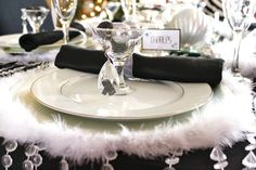 Place Setting at a New Year's Party #newyears #partytable