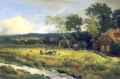 Andreas Achenbach – private collection. Landscape in Hessen (1868)