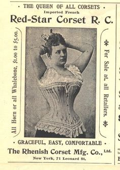 1895 ad a rhenish corset mfg photo red star