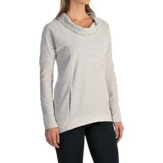 lucy Savasana Cowl Neck Shirt - Long Sleeve (For Women) in Dove Grey Heather - Closeouts Dove Grey, Spa Day, Cowl Neck, Romwe, Fossil, Long Sleeve Shirts, Pullover, Sweatshirts, Sweaters