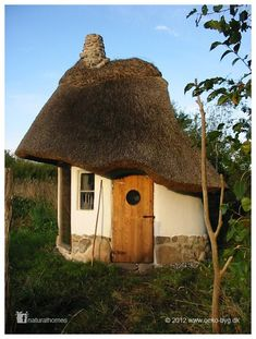 Petite structure with thatched roof in Denmark.