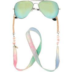 Sunny Silk Pastel Zilver Zonnebrilkoordje ♡ available at www. Eyeglasses, Sunnies, Wonderland, Silk, Band, Chain, Creative, Beautiful, Jewelry