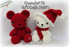 Christmas Bears Hat and Scarf Pattern ~ Amigurumi To Go