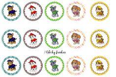 Paw Patrol Bottle Cap Images 1 Inch Digital by CraftyBusinezz Bottle Cap Projects, Bottle Cap Crafts, Paw Patrol Party, Paw Patrol Birthday, Paw Patrol Christmas, Puppy Birthday, Birthday Kids, Crochet Bows, Bottle Cap Art