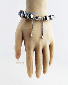 DAVID YURMAN CLASSIC BALL ALL STERLING #SILVER ADJUSTABLE #BRACELET #Jewelry