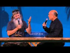 """At Louisiana Tech he actually beat out Terry Bradshaw as their QB. Anyways, here's a clip from last night on the #WestCoast. """"People can't change the truth, but the truth can change people."""" ~ Phil Robertson (of #DuckDynasty with son at the SoCal #Harvest)"""