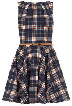 Tartan dress.