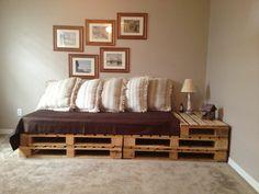 Кровать-диван своими руками из поддонов
