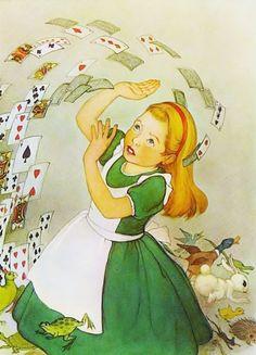 Vintage Shuffling Card Army, Alice in Wonderland Print,