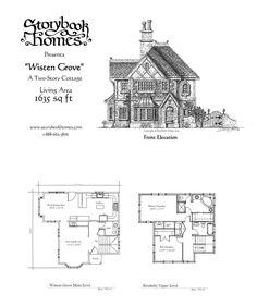 Guest House Plans, Cottage Floor Plans, Cottage House Plans, Cabin Plans, Cottage Homes, House Floor Plans, Storybook Homes, Storybook Cottage, House Plans With Photos