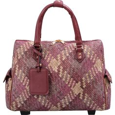 """Mellow World Firework 21"""" Carry-on Laptop Rolling Luggage - Burgundy -... (€81) ❤ liked on Polyvore featuring bags, luggage and purple"""