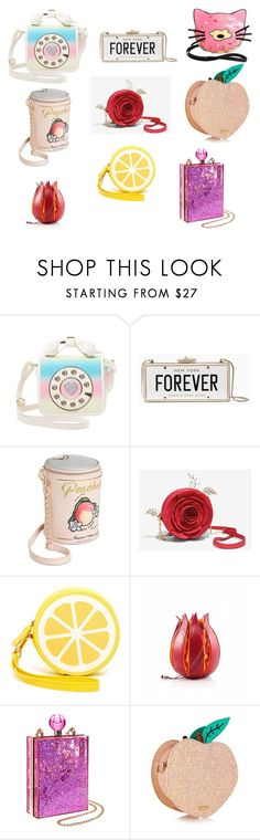 """""""Untitled #15"""" by zavala88 ❤ liked on Polyvore featuring Betsey Johnson, Kate Spade, Shiraleah, Topshop and Sleepyville Critters"""