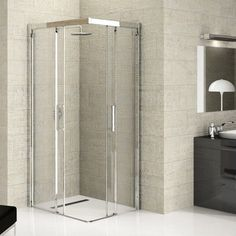 corner opening shower enclosure - Google Search