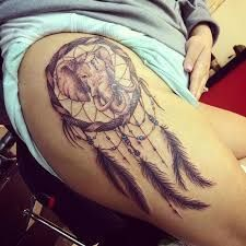 Dream Catcher Tattoo On Thigh Simple 72 Unique Dreamcatcher Tattoos With Images  Tattoo Elephant Design Inspiration